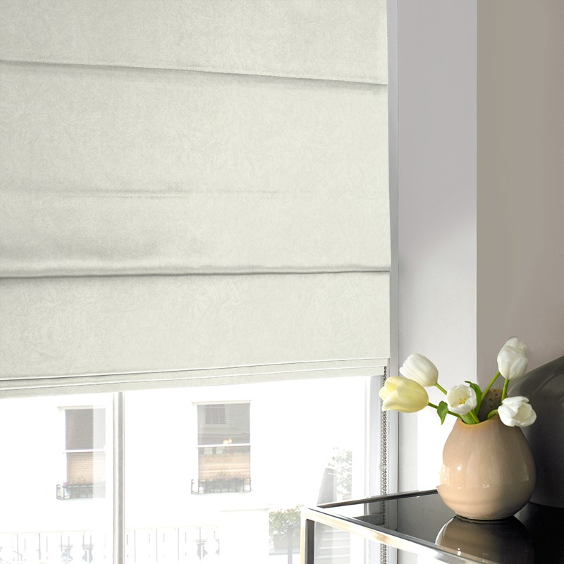 Stockists of Ivory Waterfall Roman Blind