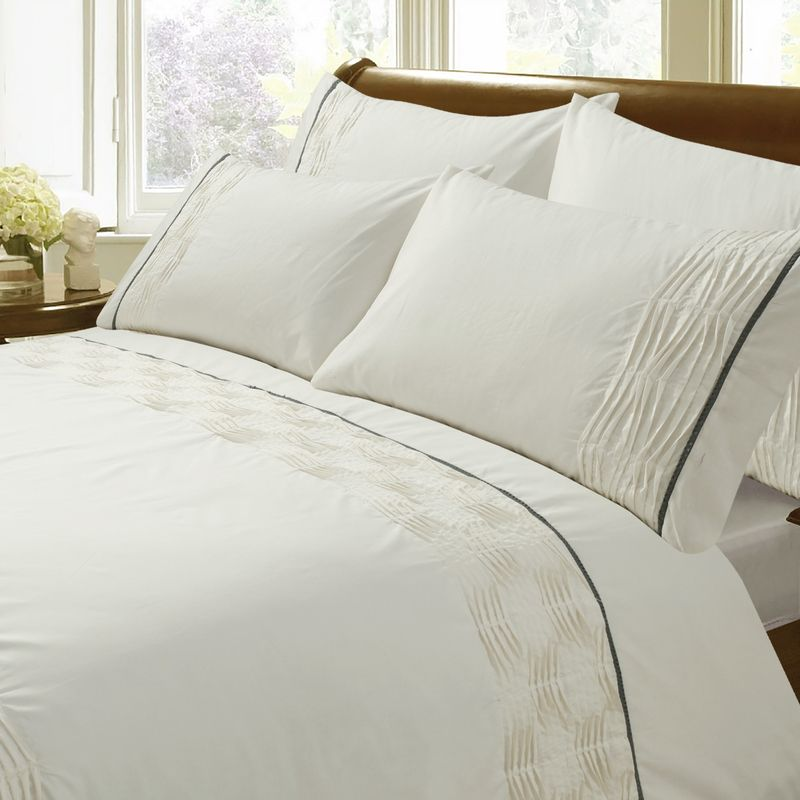 Bargain Ivory/Gold Zena Bedding Stockists