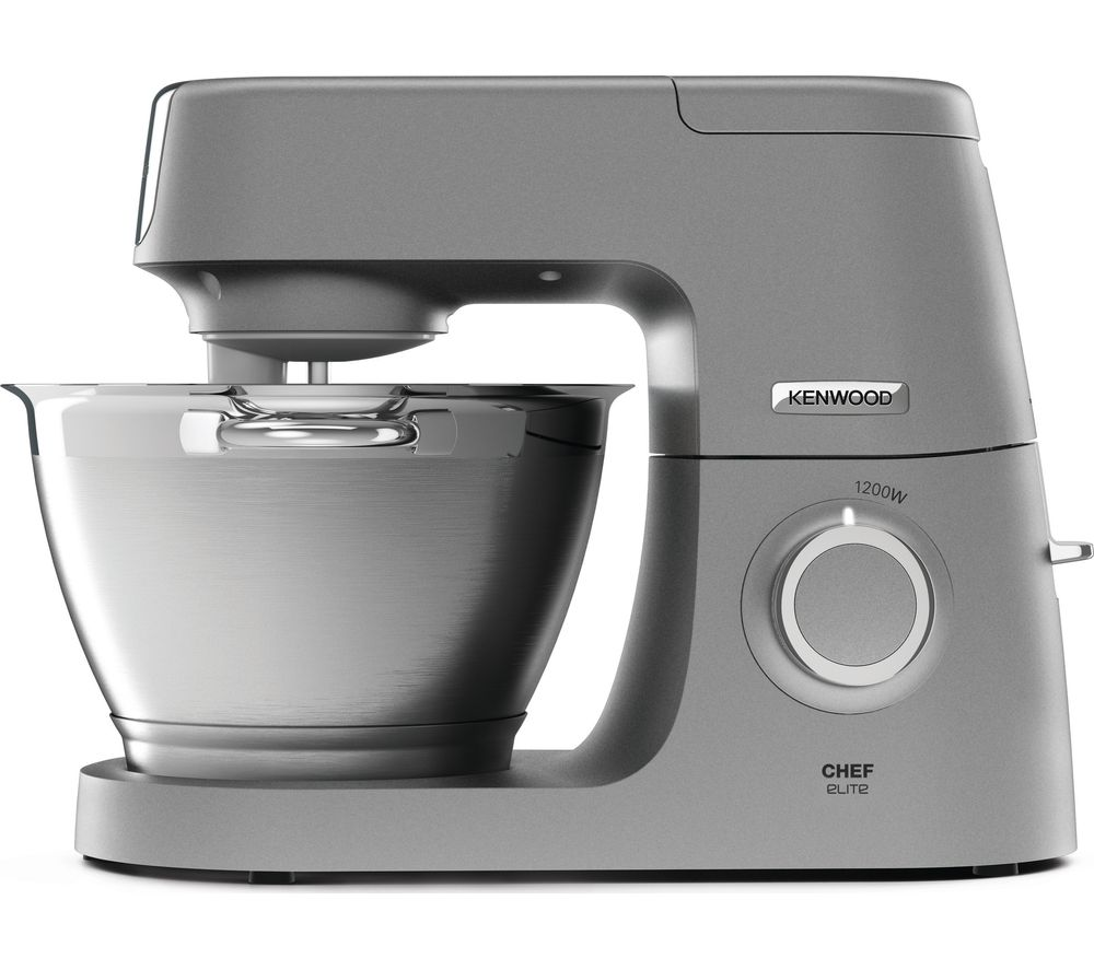 Bargain KENWOOD Chef Elite KVC5100S Stand Mixer - Silver, Silver Stockists