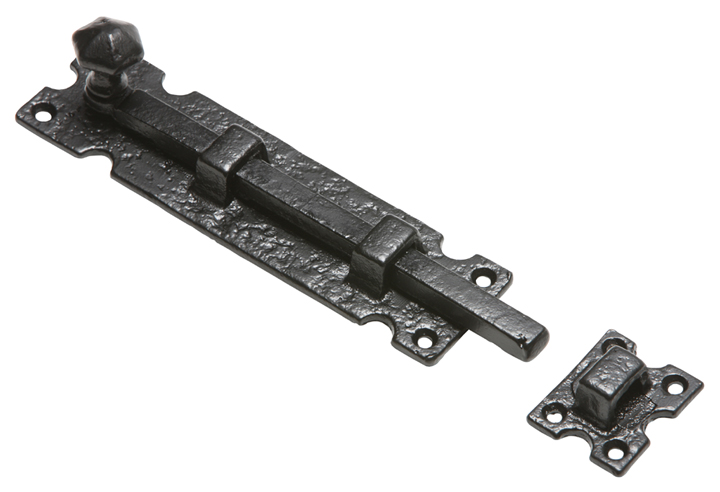 Stockists of Kirkpatrick 812 Black Antique Style Door Bolt 304mm