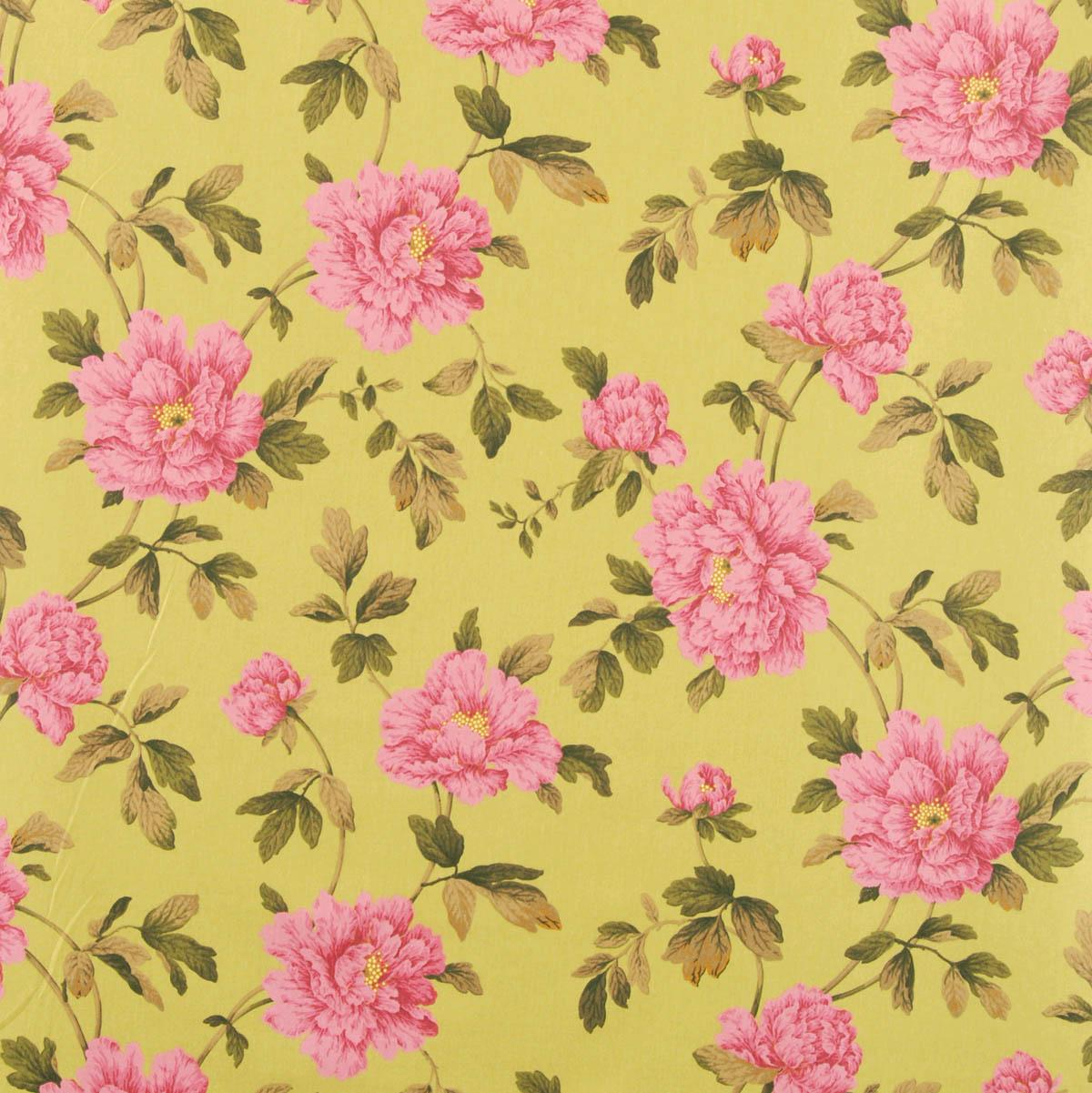 Stockists of Lime Jardin Curtain Fabric