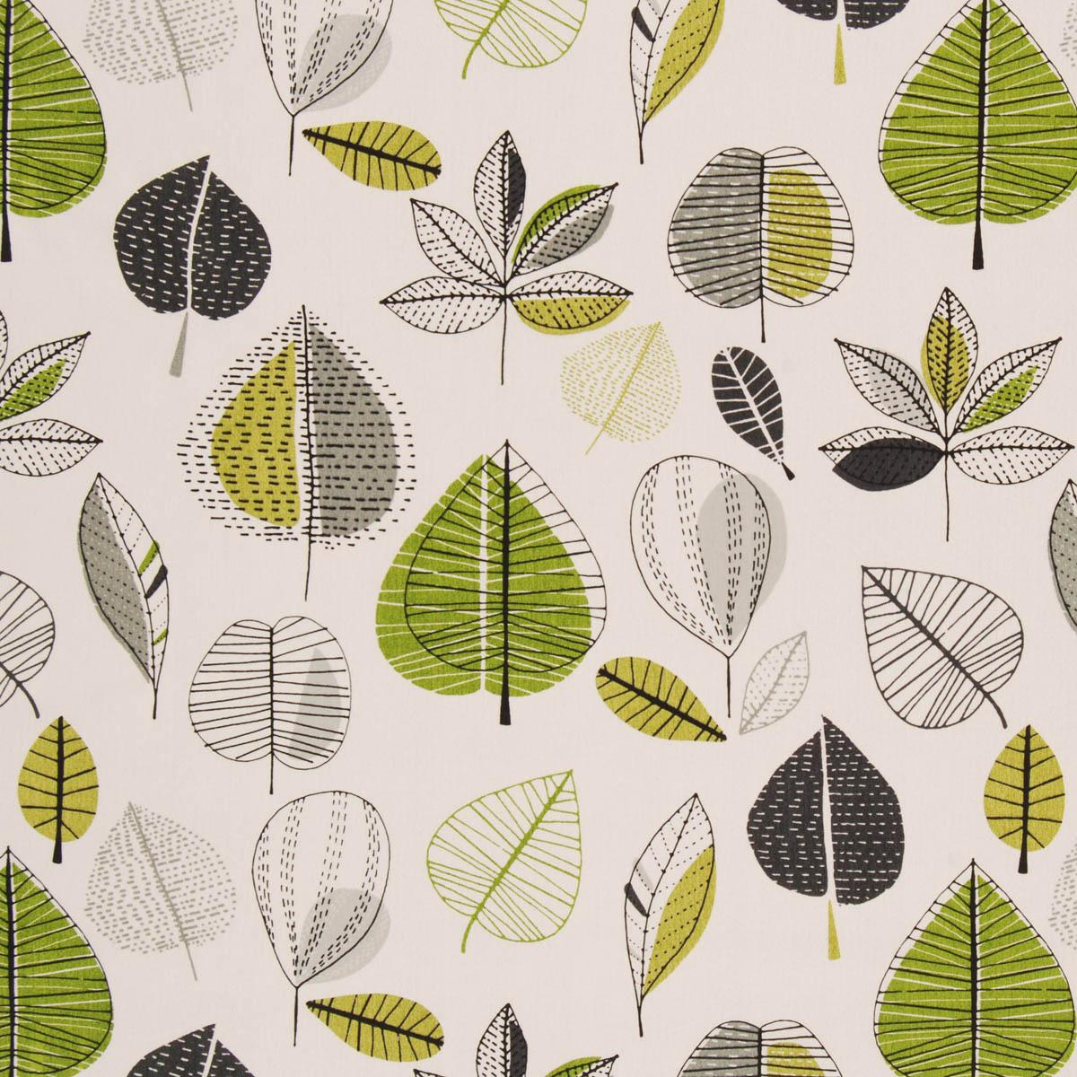 Stockists of Lime Maple Curtain Fabric