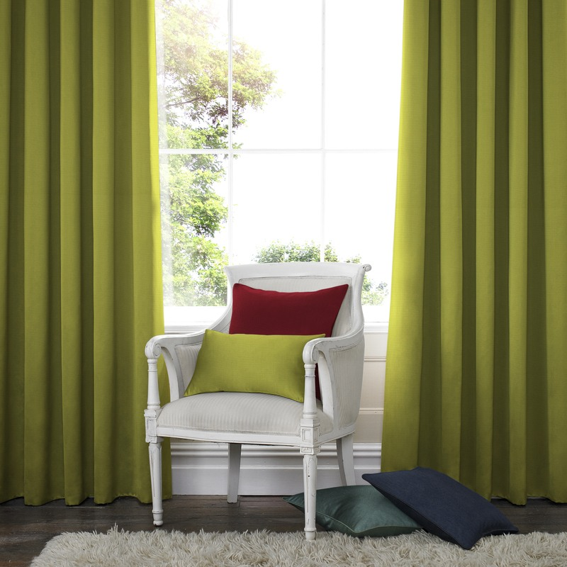 Stockists of Lime Santos Panama Made to Measure Curtains