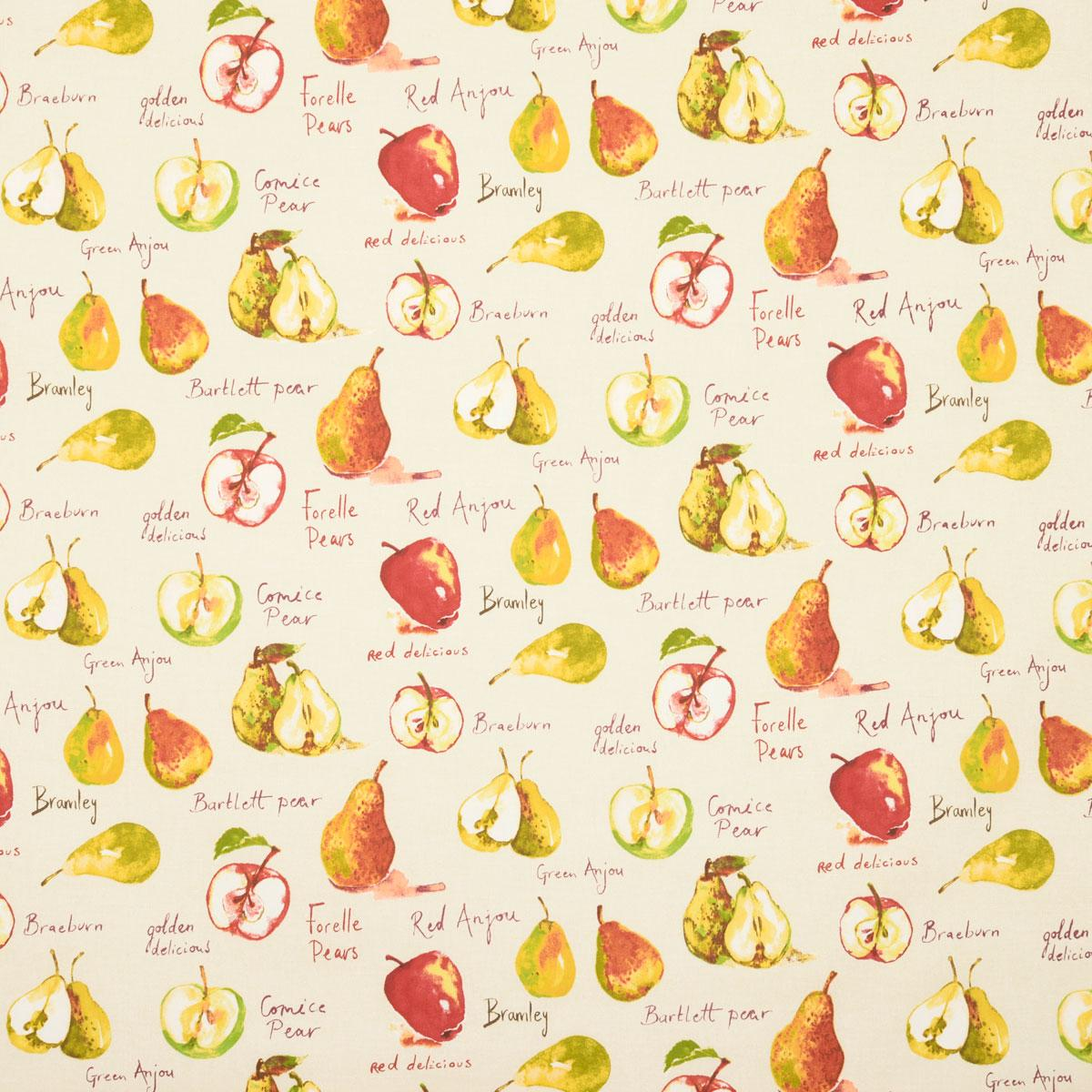 Stockists of Linen Autumn Fruits Curtain Fabric