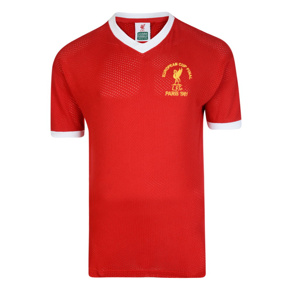 Bargain Liverpool FC 1981 European Cup Final Retro Shirt Stockists