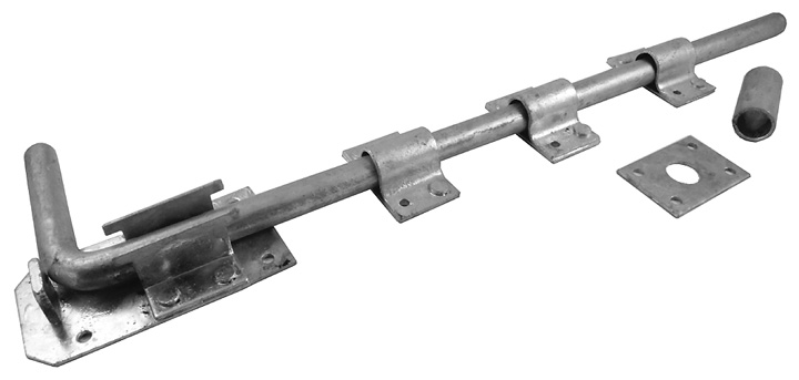 Stockists of Long Drop Gate Bolt Spelter Galvanized