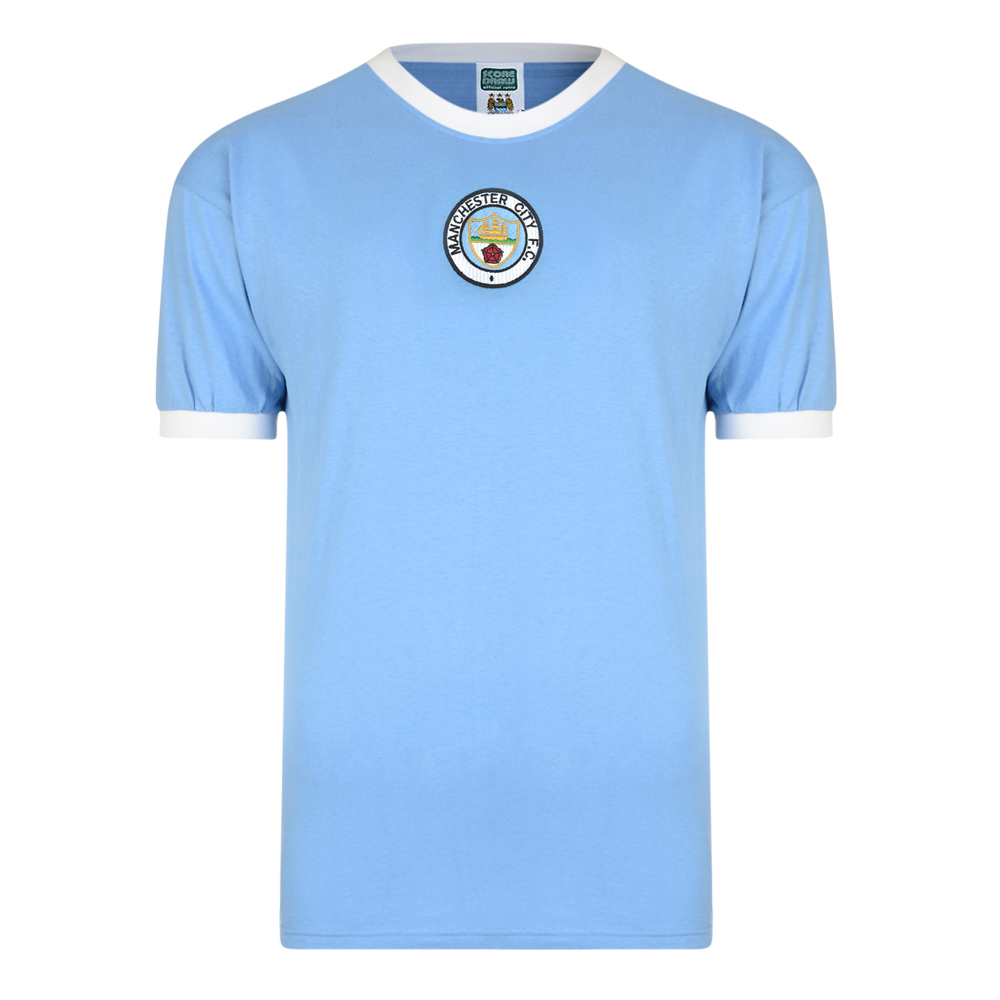 Bargain Manchester City 1972 No8 Retro Football Shirt Stockists