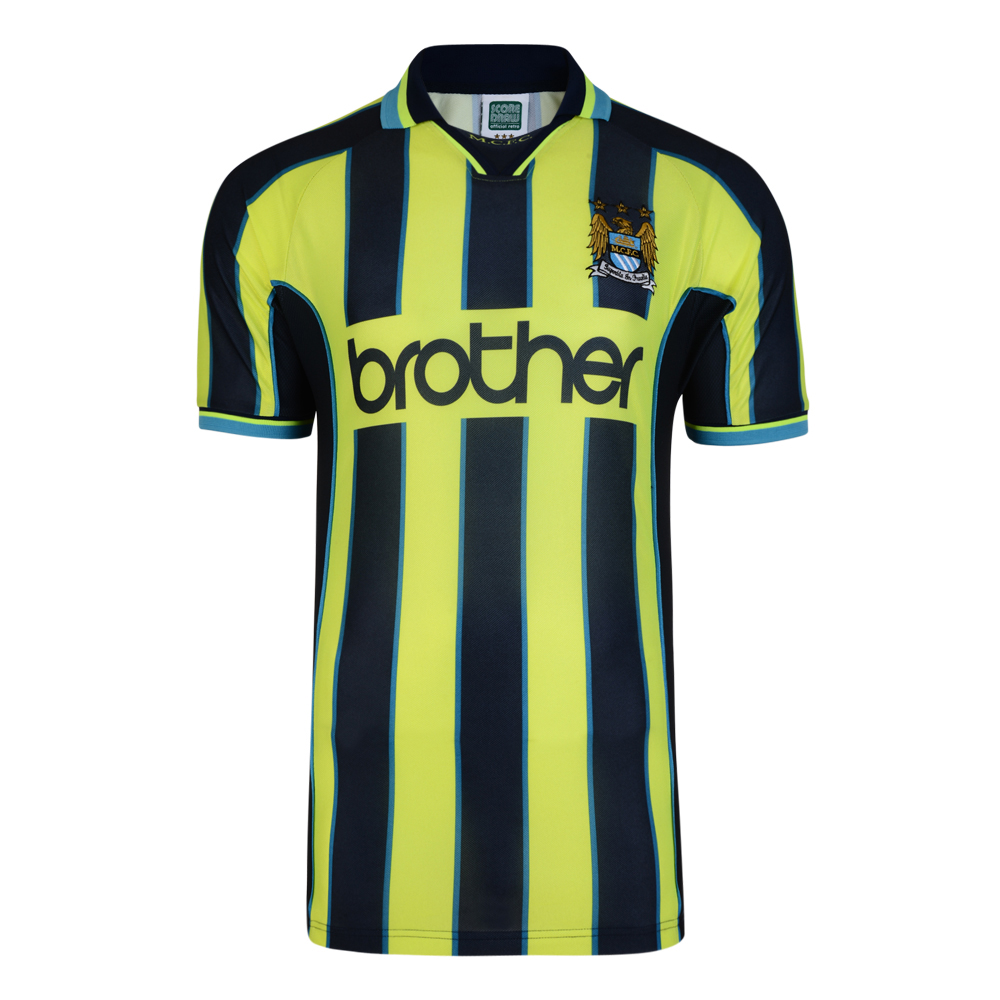 Bargain Manchester City 1999 Wembley Polyester Retro Shirt Stockists