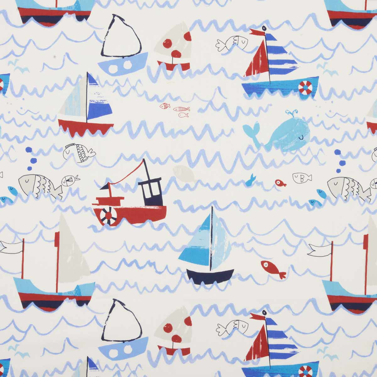 Bargain Marine Waves Curtain Fabric Stockists