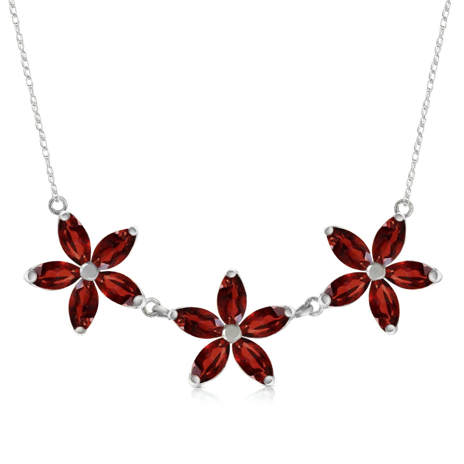 Bargain Marquise Cut Garnet Pendant Necklace 4.2ct in 9ct White Gold Stockists