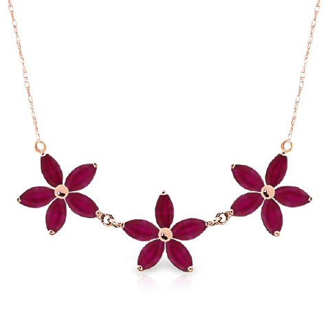 Bargain Marquise Cut Ruby Pendant Necklace 5.0ct in 9ct Rose Gold Stockists