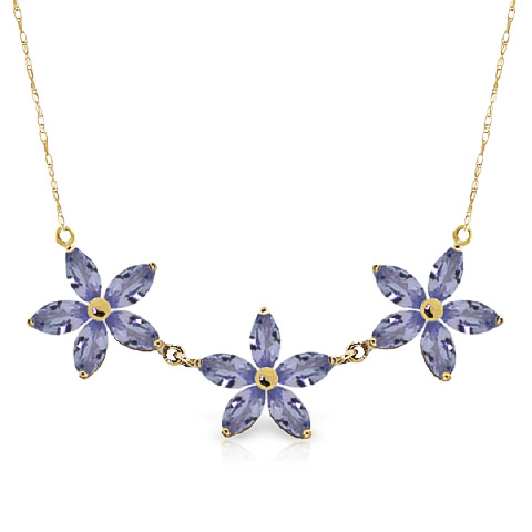 Bargain Marquise Cut Tanzanite Pendant Necklace 4.0ct in 9ct Gold Stockists