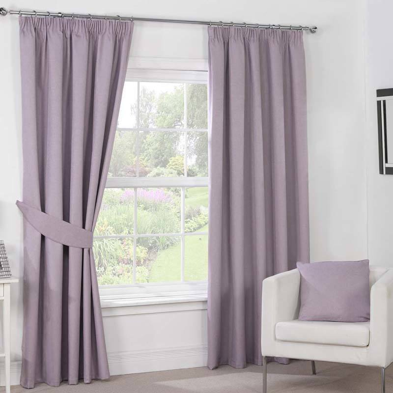 Stockists of Mauve Julian Charles Luna Ready Made Blackout Curtains