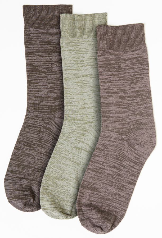 Bargain Mens Plain Marl Bamboo Socks   3 Pack   Size 6 11 Stockists
