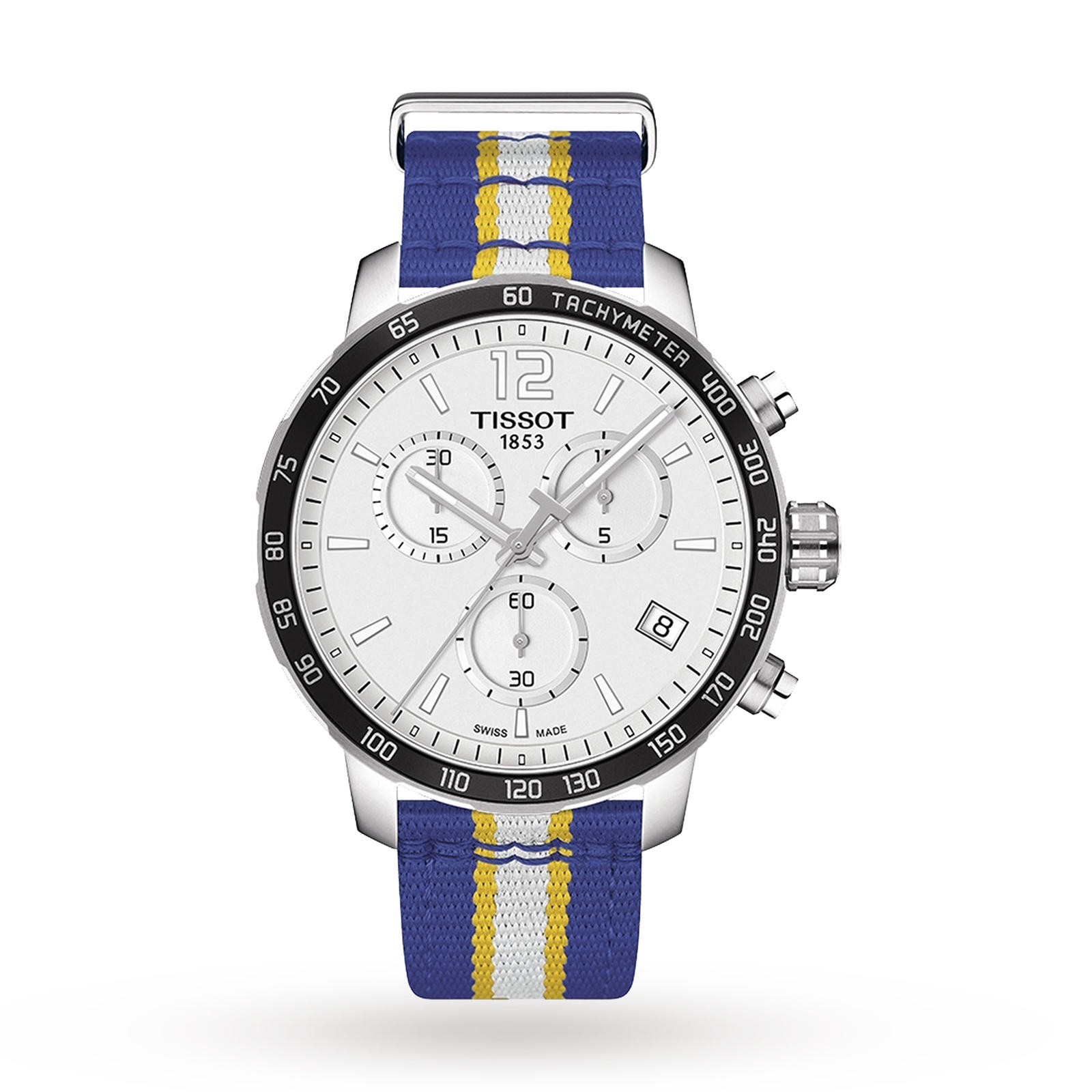 Bargain Mens Tissot Quickster NBA Golden State Warriors Special Edition Chronograph Watch T0954171703715 Stockists