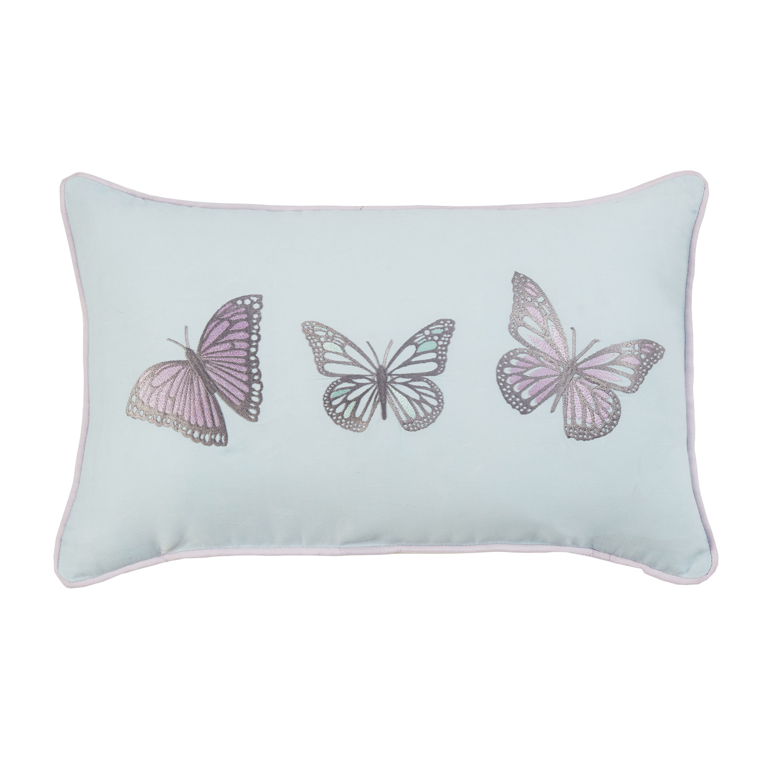 Bargain Mollie Duck Egg Butterfly Luxury Filled Boudoir Cushion Stockists