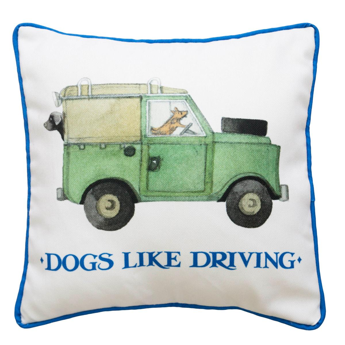 Bargain Multi Emma Bridgewater Dogs Like Driving Cushion Stockists