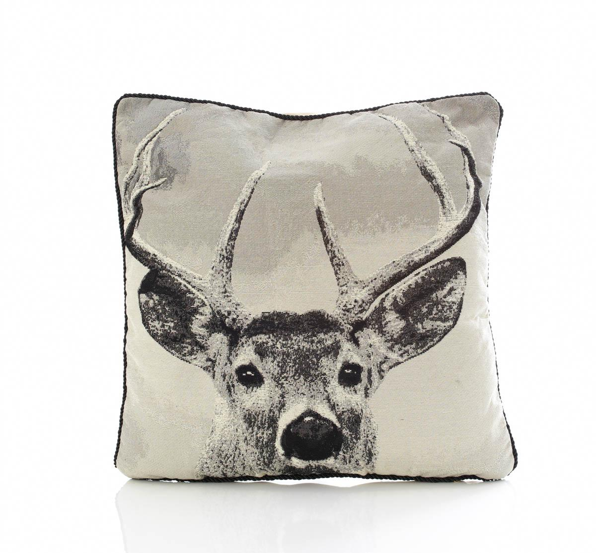 Bargain Multi Stag Tapestry Filled Cushion Stockists
