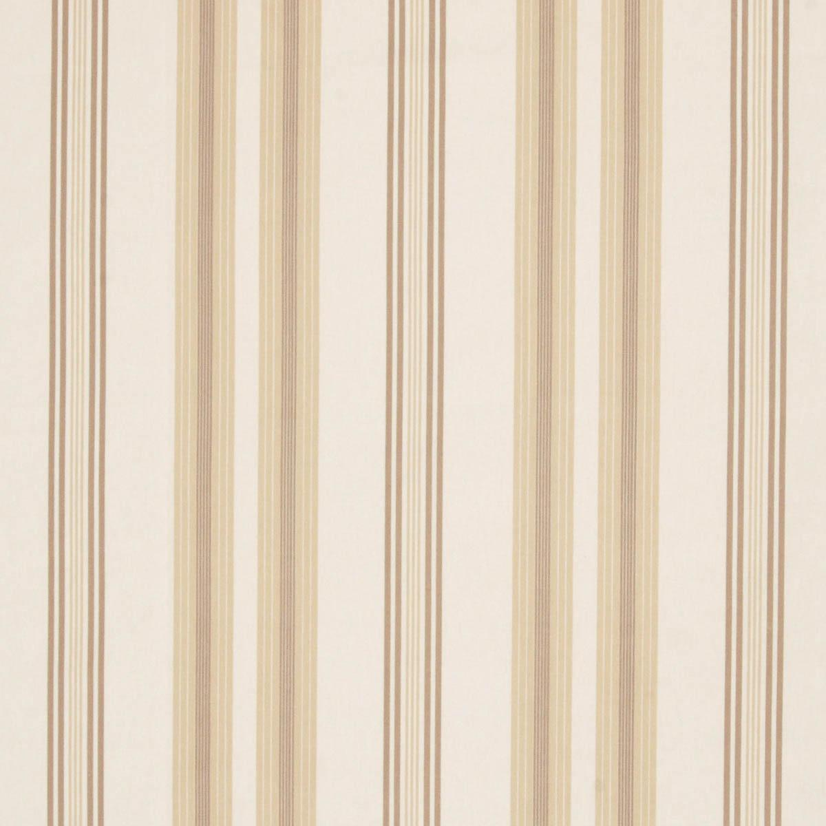 Stockists of Natural Lulu Stripe Curtain Fabric