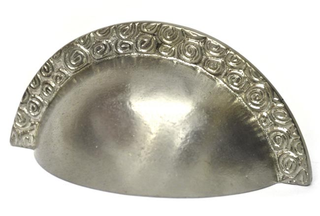 Bargain Nickel Nautilus Edged Drawer Pull Stockists