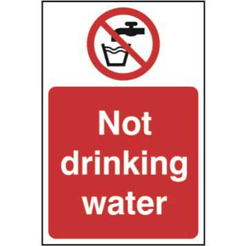 Bargain Not Drinking Water Sign - Self Adhesive Sticky Sign (200 x 300mm) Stockists