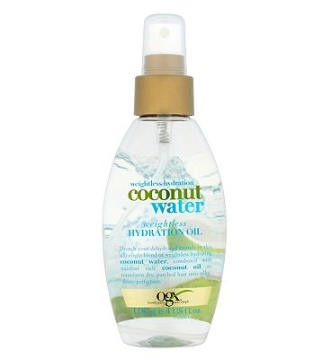 Bargain OGX Weightless Hydration Coconut Water Weightless Hydration Oil 118ml Stockists
