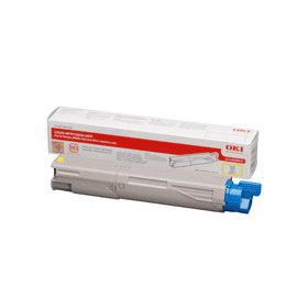 Bargain OKI 43459321 Original Yellow Toner Cartridge Stockists