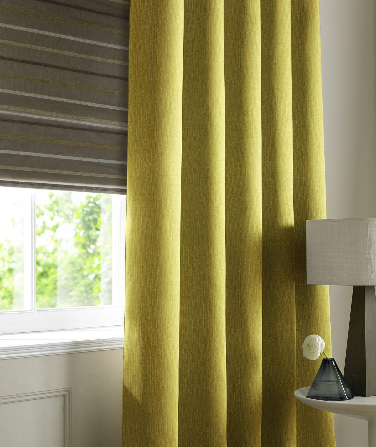 Stockists of Olive Panama Made to Measure Curtains