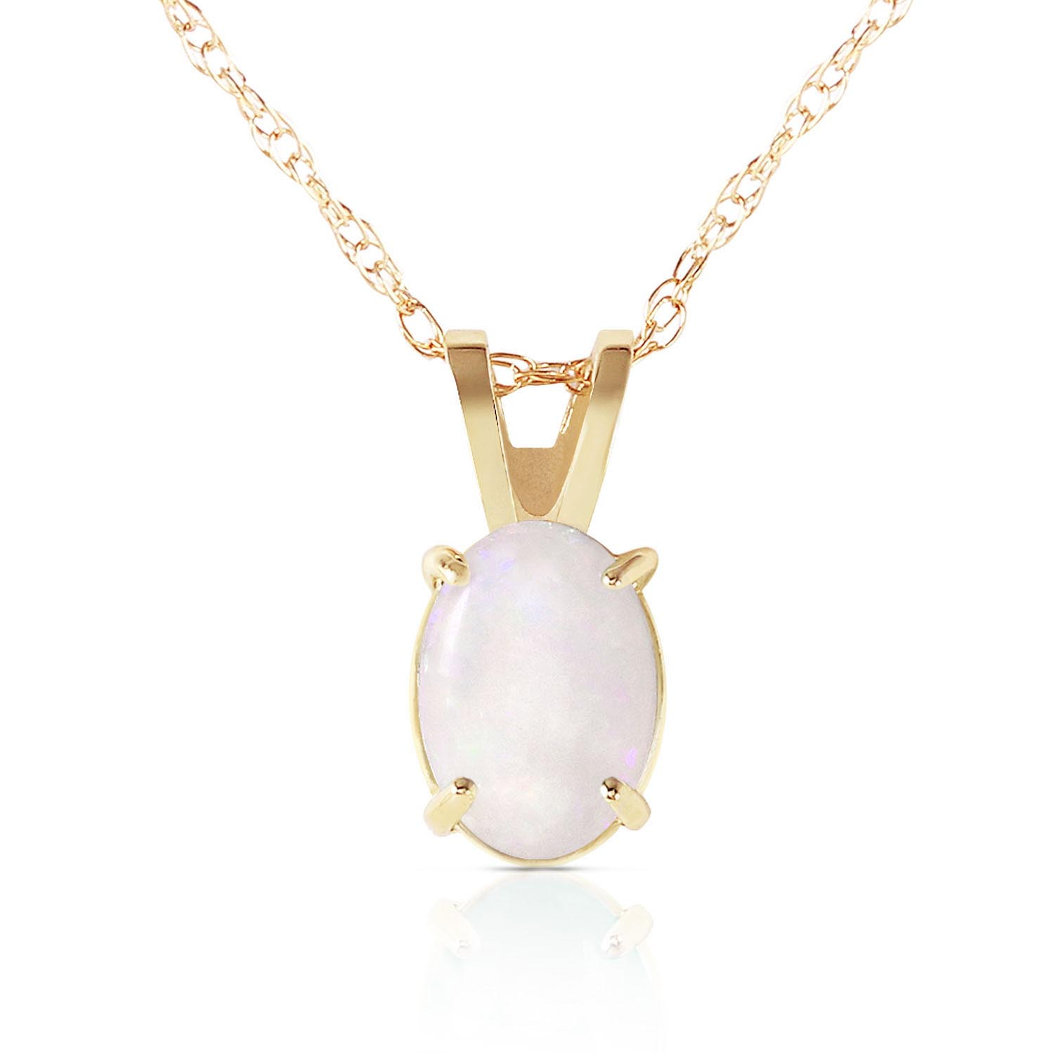 Bargain Oval Cut Opal Pendant Necklace 0.45ct in 9ct Gold Stockists