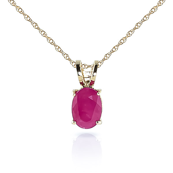 Bargain Oval Cut Ruby Pendant Necklace 1.0ct in 9ct Gold Stockists
