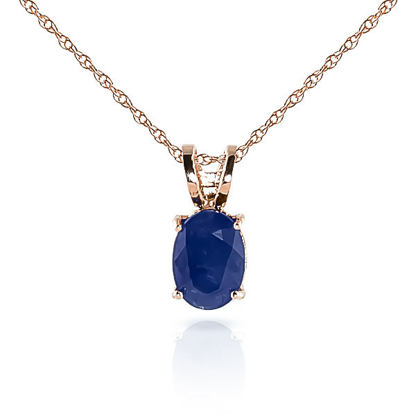 Bargain Oval Cut Sapphire Pendant Necklace 1.0ct in 9ct Rose Gold Stockists