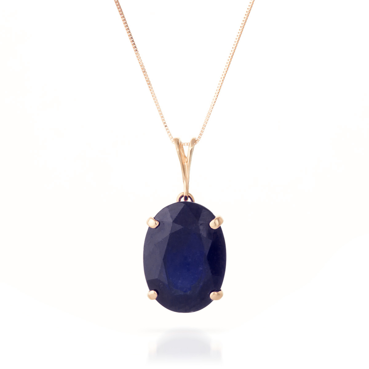 Bargain Oval Cut Sapphire Pendant Necklace 8.5ct in 9ct Rose Gold Stockists