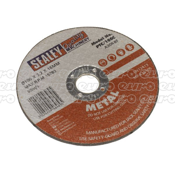 Bargain PTC/100C Cutting Disc 100 x 3 x 16mm Stockists