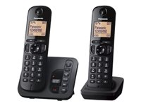 Bargain Panasonic KX-TGC222E - cordless phone - answering system with caller ID/call waiting + additional handset Stockists