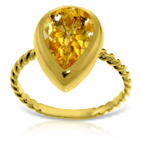 Bargain Pear Cut Citrine Ring 2.5ct in 9ct Gold Stockists