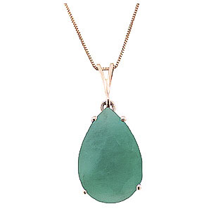 Bargain Pear Cut Emerald Pendant Necklace 3.5ct in 9ct Rose Gold Stockists