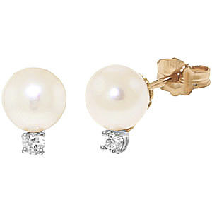 Bargain Pearl and Diamond Stud Earrings 4.0ctw in 9ct Gold Stockists