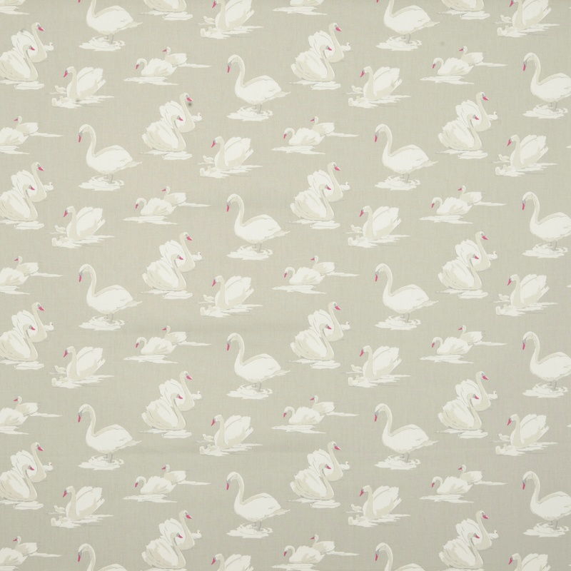 Stockists of Pebble Swans Curtain Fabric