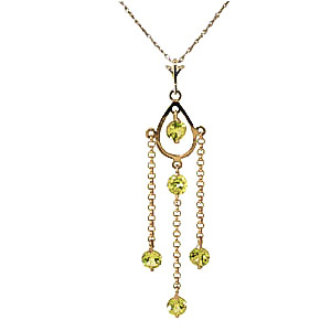 Bargain Peridot Faro Pendant Necklace 1.5ctw in 9ct Gold Stockists