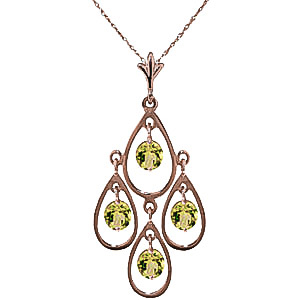Bargain Peridot Quadruplo Milan Pendant Necklace 1.2ctw in 9ct Rose Gold Stockists