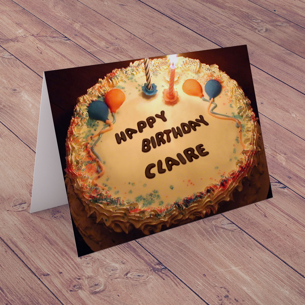 Bargain Personalised Birthday Card - Happy Birthday Cake Stockists