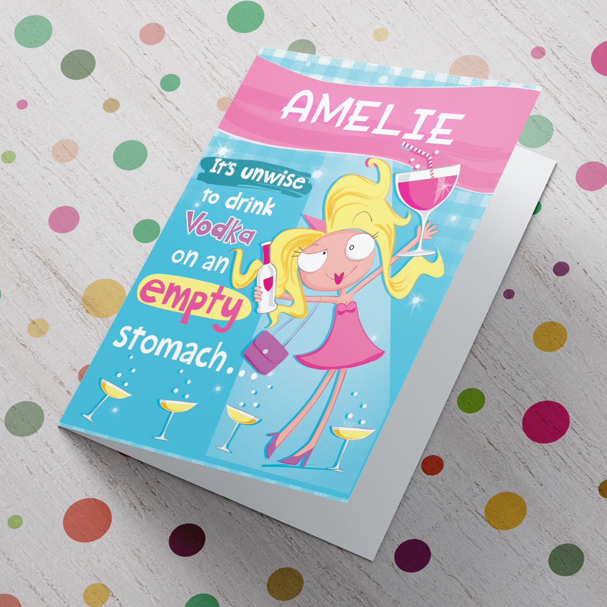 Bargain Personalised Card - Birthday Girl Vodka Stockists