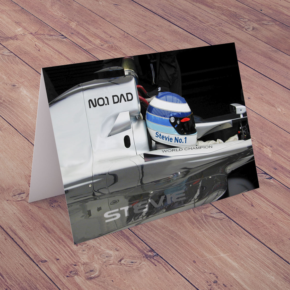 Bargain Personalised Card - No.1 Dad - Formula One Stockists