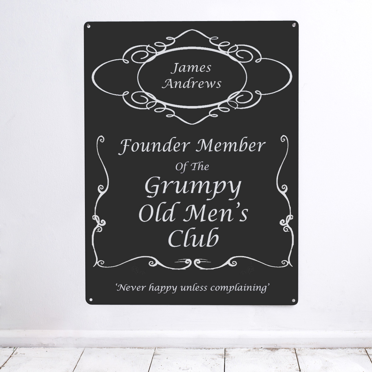 Bargain Personalised 'Grumpy Men' Metal Sign Stockists