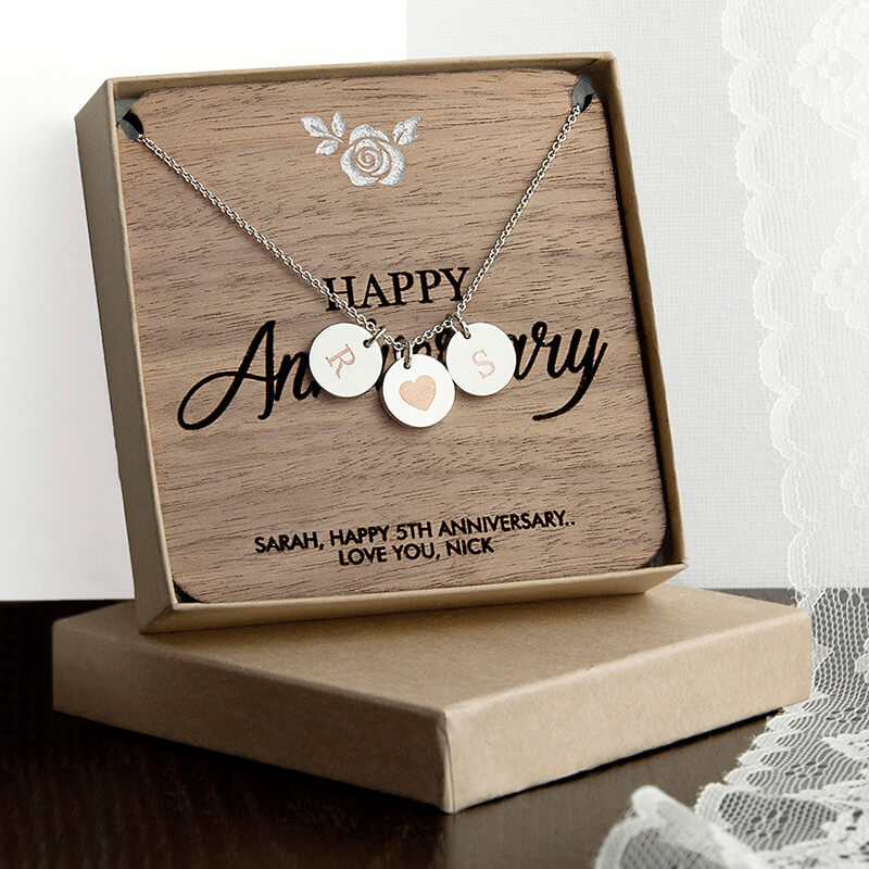 Bargain Personalised Happy Anniversary Necklace & Keepsake Stockists