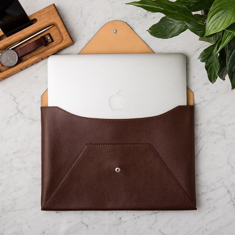 Bargain Personalised Men's Leather Laptop Case Stockists