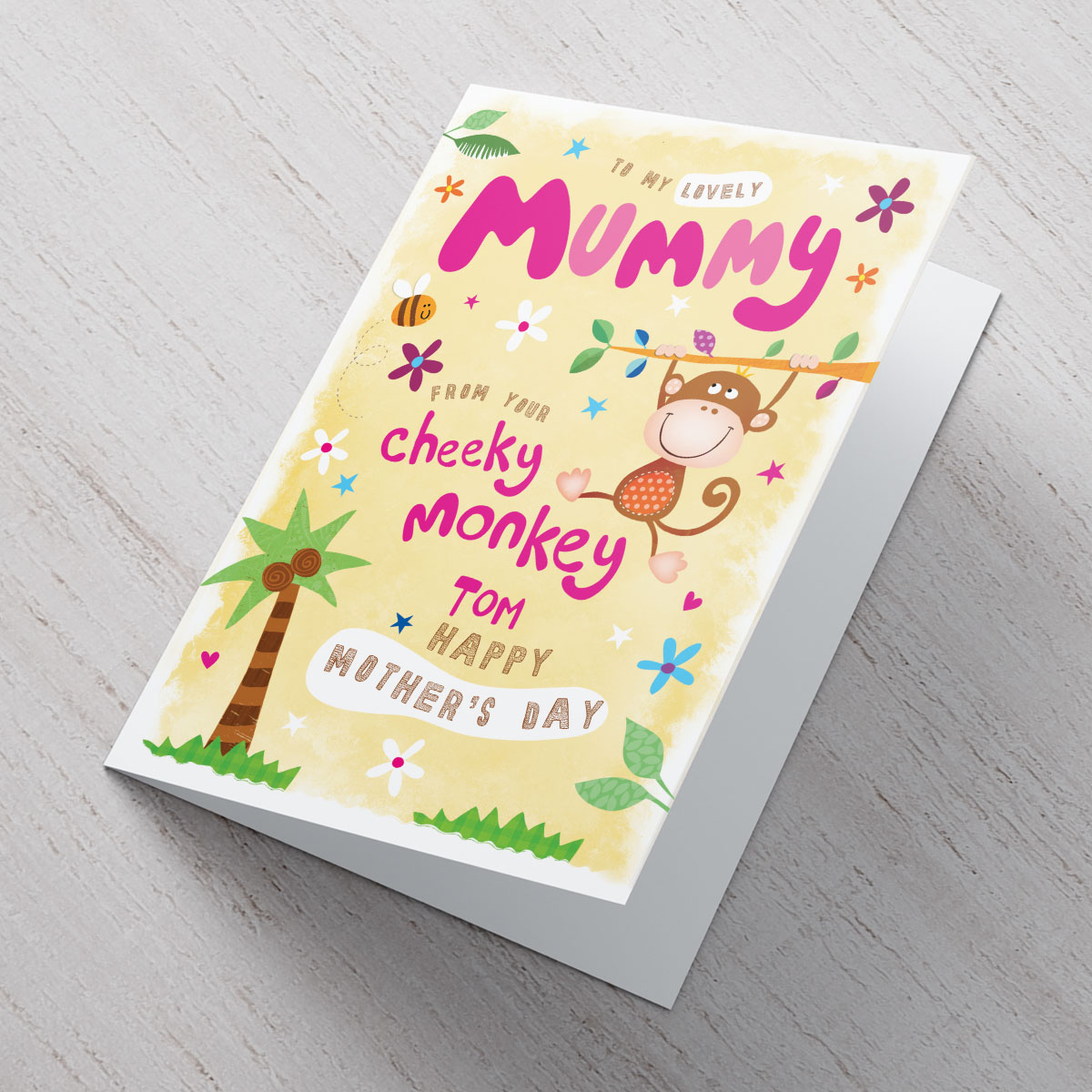 Bargain Personalised Mother's Day Card - From Your Cheeky Monkey Stockists