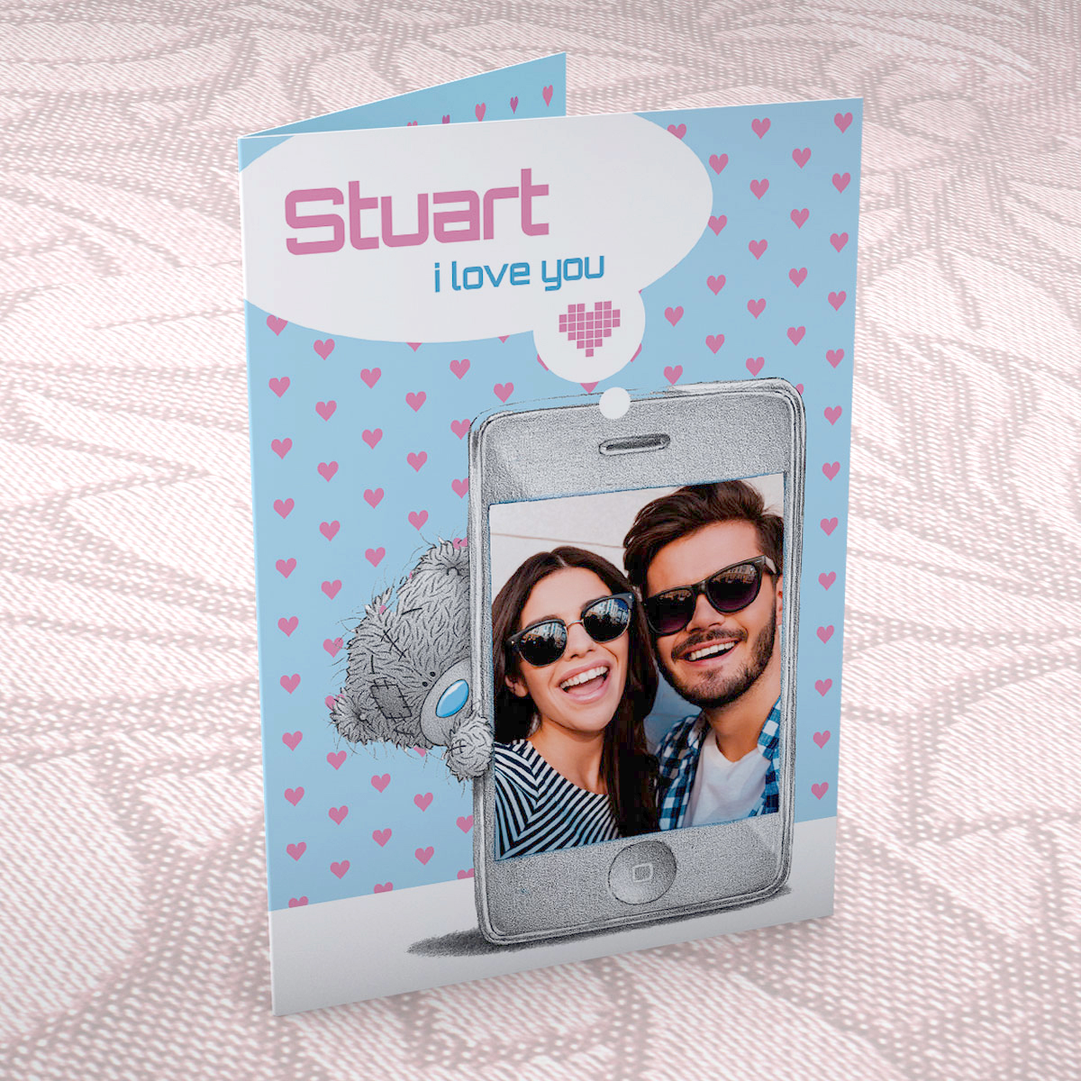 Bargain Photo Upload Me to You Card - I Love You Phone Stockists