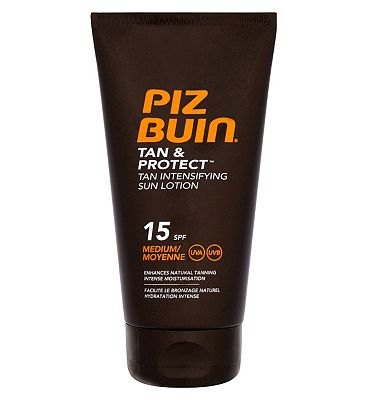 Bargain Piz Buin Tan & Protect Intensifying Sun Lotion SPF 15 150ml Stockists
