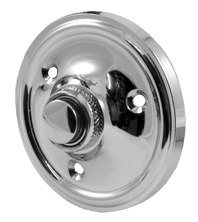 Stockists of Polished Chrome Circular Door Bell 60mm